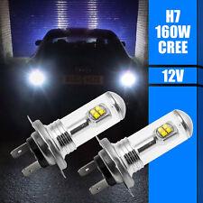 2Stück H7 160W CREE LED Nebel Rücklicht Glühbirnen Auto Fahrlampe DRL 6000K Weiß