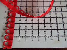 1m - White,Black,Red -  Bridal Loop Elastic Trim - Corset Button, Width - 10 mm