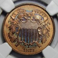 1872 NGC PF66RB TWO-CENT PIECE