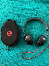 BEATS BY DR DRE SOLO 2 WIRED BLACK HEADPHONES HEADSET BLACK W/ Case