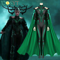 Thor 3 Ragnarok Hela Cosplay Costume Hela Jumpsuit Halloween Outfits Full Set