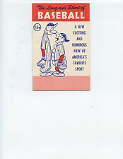 """1953 """"THE LONG AND SHORT OF BASEBALL"""" BOOKLET (25 PAGES, VERY NICE CONDITION)"""