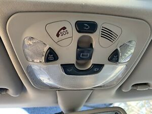 Mercedes Benz CLK500 German Overhead Console Map Dome Light SOS Trunk Buttons