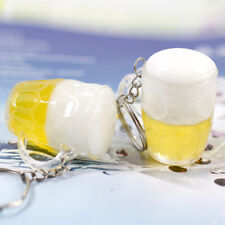 Funny Resin Beer Cups Shape Key Chain Pendant Accessories Gift Car Key Ring S