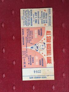 1964 Baseball All Star Game Ticket Stub - Shea Stadium - Mr. Met