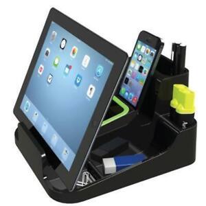 Esselte Smart Caddy Large Black iPad Stationery Phone Desk Office