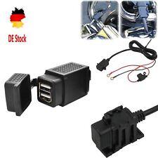 12V/24V Ladegerät Steckdose Wasserdichte USB 2.1A Motorrad Adapter Buchse Power