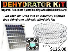 Professional Solar Oven Dehydrator Kit-Fits All Solar Box-type Sun Ovens