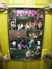 The Kinks Poster 2 Sided Band Shot Concert Stage Crowd Shot Vintage