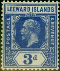 Leeward Islands 1925 3d Deep Ultramarine SG68a Fine MNH