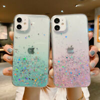 Glitter Case For iPhone 12 11 Pro Max XS XR 8 7 ShockProof TPU Gradient Cover