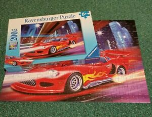 Ravensburger Jigsaw Puzzle 200 Pieces Fast Sports Car Racer No 126279 Complete