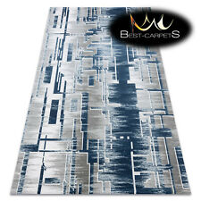 Amazing very thick ACRYLIC Rugs USKUP Geometric 9481 blue grey Best Quality