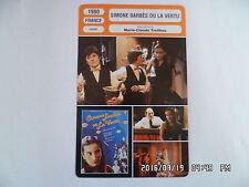 CARTE FICHE CINEMA 1980 SIMONE BARBES OU LA VERTU Ingrid Bourgoin M.Simonet