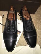 New 2014 John Lobb Oxford Shoes St. Crepin LE US 10.5 9.5 Black Leather w/ Trees