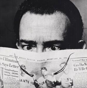 1954 Vintage SALVADOR DALI Surreal Mustache Newspaper Photo Art PHILIPPE HALSMAN