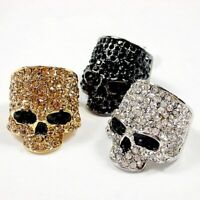 Top Quality Stainless Steel Metal Silver Classic Skull Ring Gifts For Unisex
