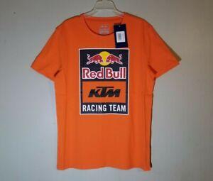 Red Bull KTM Racing Team Emblem T-Shirt L Orange Large Moto MotoGP Factory