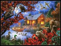 Forester's House - Chart Counted Cross Stitch Pattern Needlework Xstitch DIY