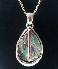 Abalone Teardrop Style silver tone swing type: necklace very nice must see!!!