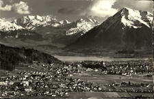Steffisburg Schweiz Postkarte 1970 gelaufen Panorama mit Thunersee und Thun