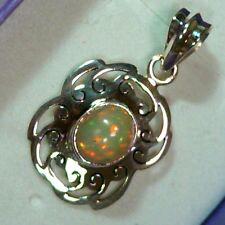 Pendentif opale welo pierre éthiopienne ethiopian wello opal pendant 13.3c