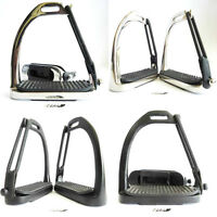 YNR® Brand New Peacock Safety Stirrups Iron Steel Horse Riding Equestrian Treads