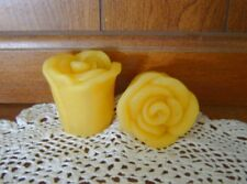 Natural Handmade Beeswax Candles - rose votive