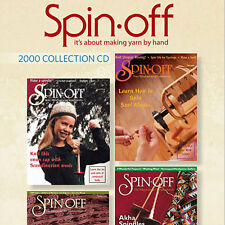 4 Issues on CD: SPIN-OFF MAGAZINE 2000 Spinning Yarn Silk Indigo Dyeing Mobius