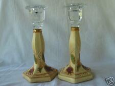 Shabat Koddesh candlesticks glass hand made Israeli art
