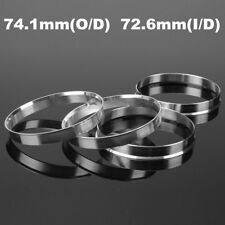 4x Hub Centric Aluminum Rings 74.1mm to 72.6mm | Hubcentric 74 - 72.56 for BMW