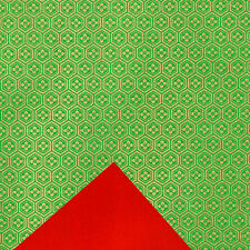 (wb74) DUAL-SIDED Color Yuzen washi paper 22x31 cm.