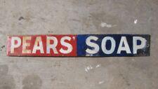 22159 Old Enamel Sign - Vintage Shop Advert Pears Soap Strip Box Packet Metal