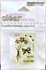 NEW STAMPENDOUS CLEAR STAMP MINI THANKS FLOWER BOW SSC409