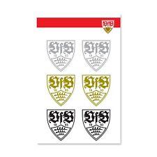 VfB Stuttgart Aufkleber Wappen Silber Gold schwarz 4x4 5cm 1009