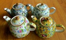 4 Chintz - Flowered Tea Pots