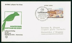 MayfairStamps Chile 1983 Santiago to Montevideo Uruguay LH 505 Aviation Lufthans