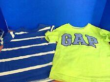 BABY GAP~Lot of 2 SHORT SLEEVE Tee T-SHIRTS~Green Gray Blue Yellow~Boys Size 4