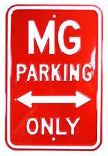 AUTO D'EPOCA IN METALLO DIVIETO di parcheggio in rilievo segno MG Rosso/Bianco-Park 29