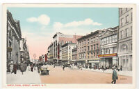 Albany, NY North Pearl Street View Postcard Stores, Cars, Vintage Antique Old st