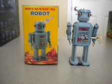 Vintage Robots - Mechanical Robot - Tin Wind Up - New In Box