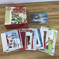 Christmas Cards & Envelopes Mixed Lot Of 96 - 64 With Envelopes Vintage Unused