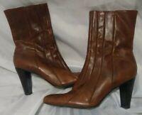 Antonio Melani Brown Heeled Short Lenore Boots Size 9M