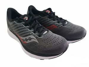 Saucony Men's Ride 13 Running Sneaker Shoes Size 7.5 Charcoal/Black