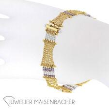 Gold herreros Engelhardt-nuez trenzado-brazalete, camilla longitud 18cm