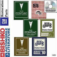 1978 1979 1980 Pontiac Shop Service Repair Manual CD Engine Drivetrain Body OEM