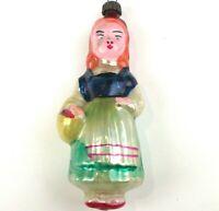 Selten Antiker Russen Alter Christbaumschmuck Glas Weihnachtsschmuck Rotkäppchen
