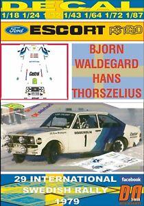 DECAL FORD ESCORT RS 1800 MKII B.WALDEGARD SWEDISH R. 1979 2nd (06)