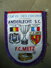 fanion  1988 coupe d'europe des vainqueurs de coupe Metz   anderlecht