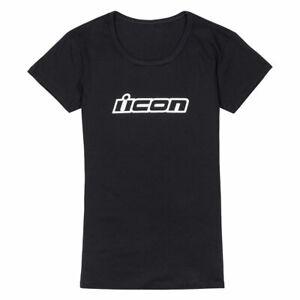 Icon Clasicon Ladies Fashionable Casual Wear T-Shirt Black